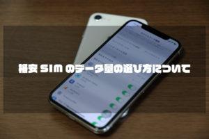 格安SIMのデータ量の選び方