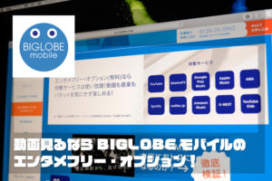 BIGLOBEモバイル エンタメフリー・オプション