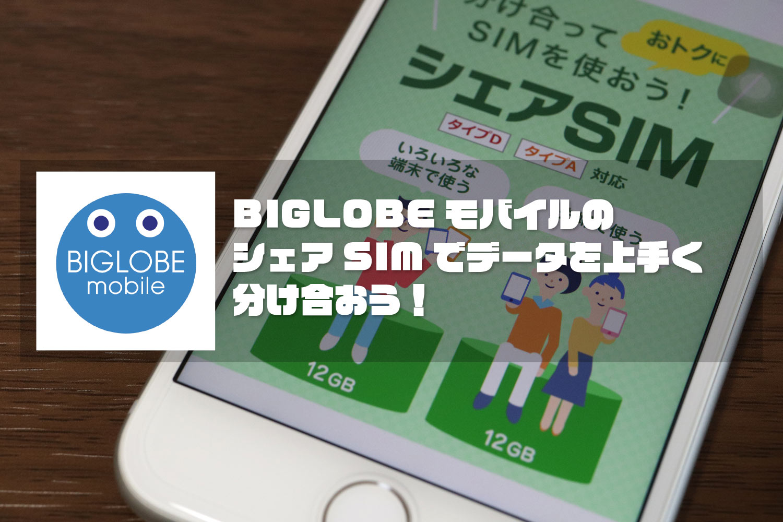 BIGLOBEモバイル シェアSIM