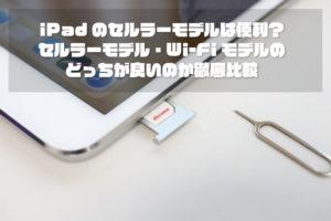 iPad セルラーモデルとWi-Fiモデルどっちが良いか