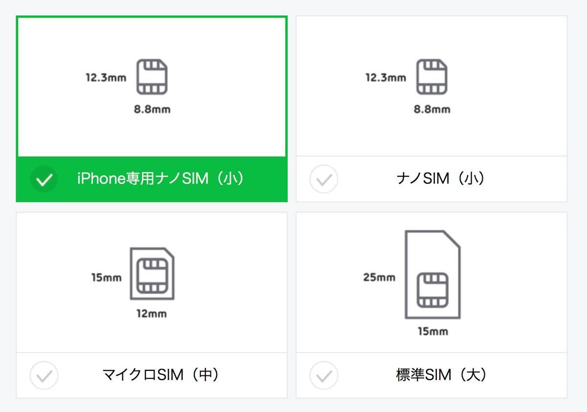 LINEモバイル iPhone専用nanoSIM