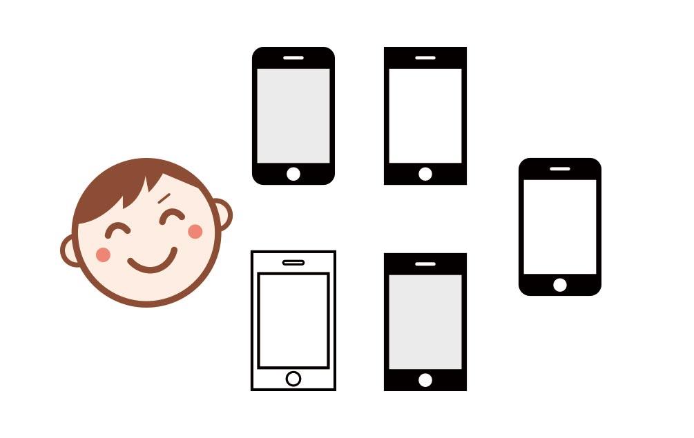 UQ mobile ひとりで5回線まで